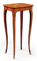 A LOUIS XV TULIPWOOD AND FLORA