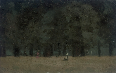 Figures under the trees, Eveni