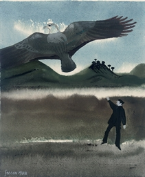 Man and Eagle