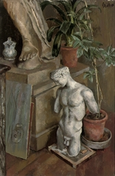 Still life of classical sculpt