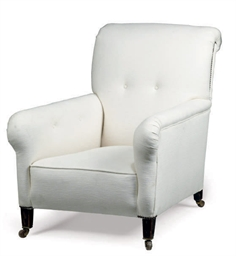 A LATE VICTORIAN ARMCHAIR