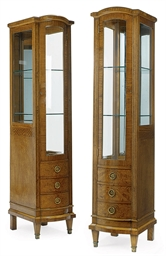 A PAIR OF SATINWOOD AND CROSSB