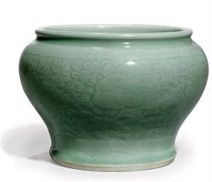 A CHINESE CELADON JAR