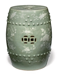A CHINESE CELADON GROUND SLIP-
