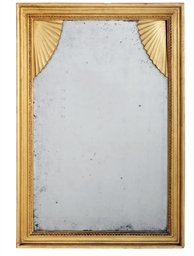 A NORTH EUROPEAN GILT FRAMED M