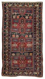 An unusual antique Shirvan rug