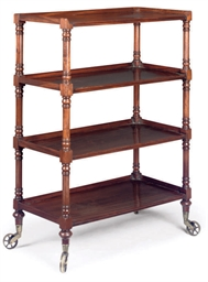 A GEORGE IV MAHOGANY FOUR TIER