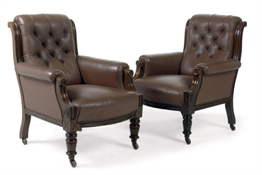 A PAIR OF MID-VICTORIAN CARVED