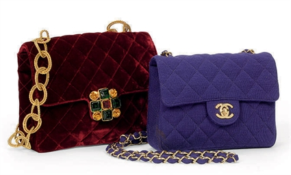 TWO QUILTED HANDBAGS