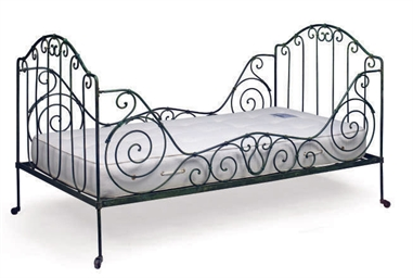 A FRENCH WROUGHT-IRON BED