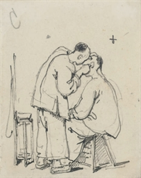Study of two oriental men
