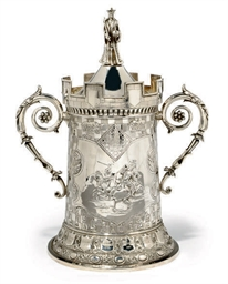 A VICTORIAN SILVER CHESS TROPH