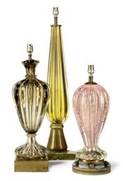 THREE ITALIAN MURANO GLASS TAB