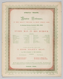 [PLAYBILL -- DICKENS, Charles,