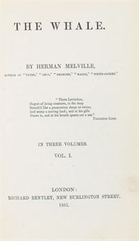 First Edition English copy of Moby Dick by Herman Melville