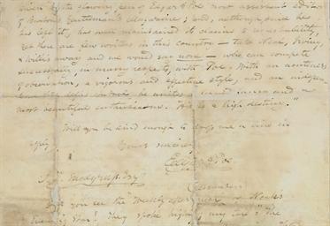 POE, Edgar Allan. Autograph le