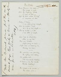 POE, Edgar Allan. Autograph ma