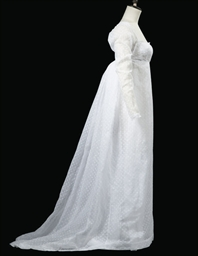 A DRESS OF WHITE MUSLIN