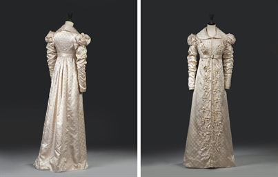 A 'REDINGOT' WALKING DRESS OF