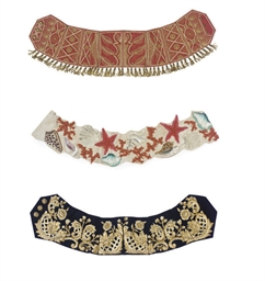 THREE CUMMERBUND BELTS