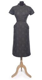 A DAY DRESS OF CHARCOAL GREY F