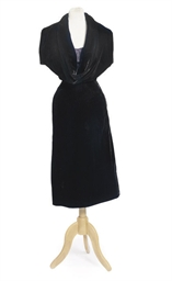 A BLACK VELVET COCKTAIL DRESS
