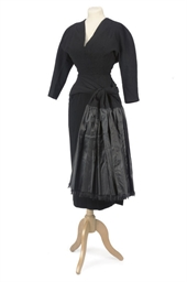A BLACK WOOL DRESS