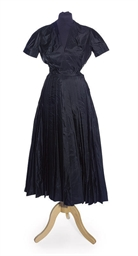 A DRESS OF BLACK SILK FAILLE