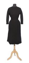 A BLACK WOOL DRESS