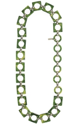 A JADE GREEN CHAIN LINK BELT