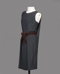 A BLACK SILK COCKTAIL DRESS