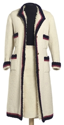 A COAT AND SKIRT SUIT OF IVORY