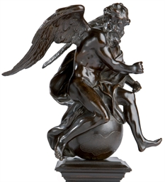 FIGURE ALLEGORIQUE EN BRONZE R