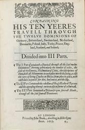 MORYSON, Fynes (1565-1630). An