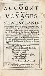 JOSSELYN, John (1638-1675). An