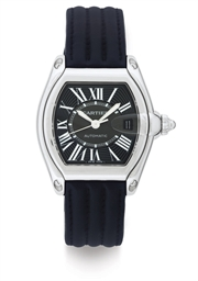 CARTIER. A STAINLESS STEEL AUT