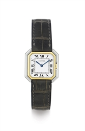 CARTIER.  A LADY'S 18K TWO COL