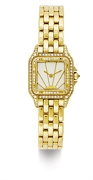 CARTIER.  A LADY'S 18K GOLD, D