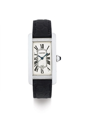 CARTIER. AN 18K WHITE GOLD AUT