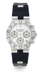 BULGARI.  A STAINLESS STEEL AN