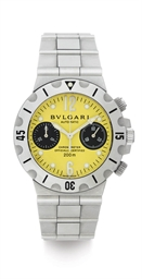 BULGARI. A STAINLESS STEEL AUT