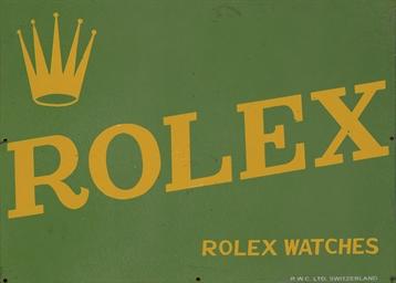 ROLEX.  AN ENAMEL RETAILER WIN