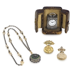 TWO LAPEL WATCHES, A PENDANT W