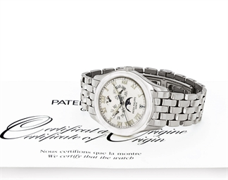 PATEK PHILIPPE. AN 18K WHITE G