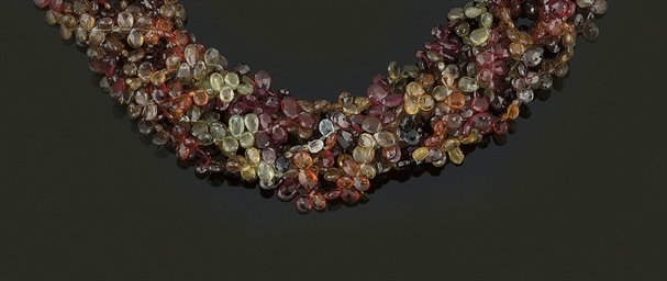 A vari-coloured sapphire torsa