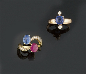 Two gem set rings