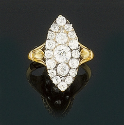 A late 19th century diamond ri