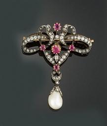 An Edwardian ruby and diamond