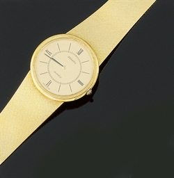 A 14ct. gold wristwatch, by Ze