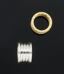 Two 18ct. gold band rings, by